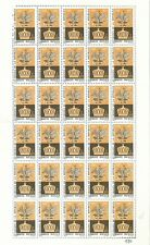 1646 MEXICO Sc 980 Full Sheet 30 Stamps  Mexican Eagle over Imperial Crown 1967