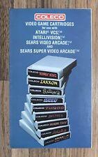 Coleco ~ Atari 2600 Game Manual ~ Video Game Cartridges Catalog