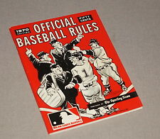 1970 THE SPORTING NEWS OFFICIAL BASEBALL RULES GUIDE BOOK