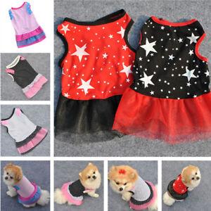 Summer Puppy Pet Cat Dog Girl Lace Tulle Tutu Princess Dress Clothes Costume Hot