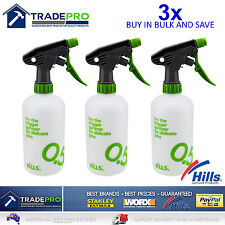 3x Spray Bottle 500ml Hills® Trigger Gun Misting Sprayer Flowers Restaurants