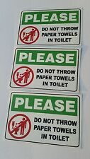 Restroom Toilet Caution Sticker ( set of 3)   6inx4in
