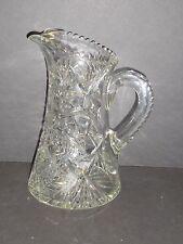 CUT GLASS TANKARD PITCHER                                      raa1-804