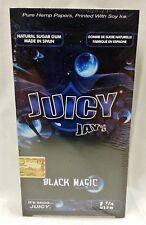 1 Box JUICY JAY'S  1 1/4 Rolling Papers Black Magic 24 Packs Free Shipping