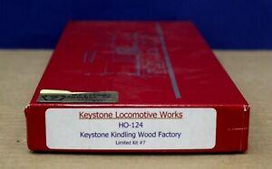 Keystone Loco Works HO-124 kindling wood factory Limited Ed Craftsman kit NIB