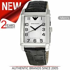 Emporio Armani Macro Gent's Stainless Steel Case With Leather Strap Watch Ar0488