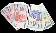 30 Zimbabwe Banknotes- 15 x 5 & 10 Billion Dollars-paper money currency