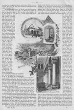 """""""Alpirsbach"""" mehrere Ansicht auf 5 Seiten.Orig.Holzstich nach C. Liebich v. 1898"""