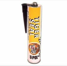 Genuine U-POL Tiger Seal Polyurethane - Black - 310ml x4