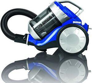 CLEANmaxx  Zyklon-Staubsauger HEPA-Filter Energiesparend  700 Watt blau-silber