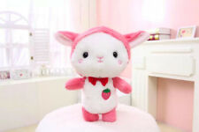 Girl Strawberry Rabbit Stuffed Animal Cute Rabbit Cartoon Plush Doll Toys 35cm