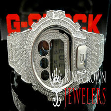 Mens White G-Shock/G Shock Digital Simulated Diamond Watch Joe Rodeo Jojino Kc