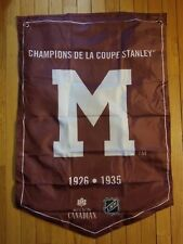 Molson Beer Stanley Cup Banner Flags Montreal Maroons