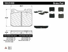 Centric Parts 104.01450 Front Super Premium Semi Metallic Brake Pads