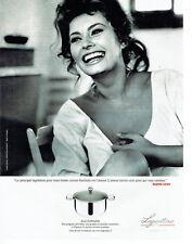 Publicité Advertising 088  2010   Lagostina  ustensils cuisine Sophia Loren