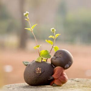 yixing zisha tea pet lovely home decoration mini vase creative tea play monk new