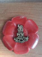 regimental poppy style brooch/LIFEGUARDS