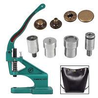 Iron Dies Set for Green Machine 10/12/15/17mm S Spring Press Stud Setting Tool