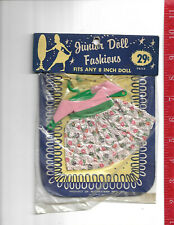 vintage Junior Doll Fashions clothes for an 8 inch doll in original packaging