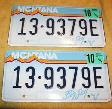 Lot of 2 MINT  Montana  License Plates  Year 2000