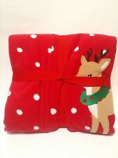 Carter's Footed Pajamas Sleep - NWT Size 5 - Red Polka Dotted Reindeer/Holiday