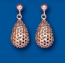 Rose Gold Earrings Bomb Drops Dangle Red Gold Drops