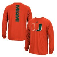 "Miami Hurricanes NCAA Adidas Men's Sideline ""Spine"" Orange T-Shirt"