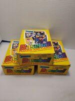 3-1989 Donruss Baseball Wax Box 36 Packs Per Box  Ken Griffey Jr Rookie RC