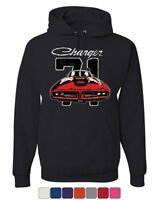 Dodge Charger 71 Hoodie Distressed American Classic Muscle Car Sweatshirt