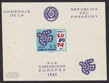 Paraguay 1961 Imperforate EUROPA Miniature sheet - Unused MNH Luxe.........A6079