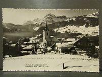 cpa 73 notre dame de bellecombe sous la neige vue generale et le mont charvin