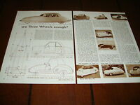 1955 DAVIS FRANK KURTIS - MESSERSCHMITT - 3 WHEELER TRIKE ***ORIGINAL ARTICLE***