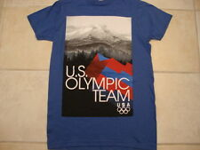 USA Olympic Team Apparel Blue Graphic Print T Shirt S
