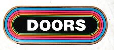 Vtg 1970s 1980s DOORS (Jim Morrison) / Rainbow Bumper Sticker Decal - XLT