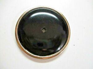 "JB JayBee USA 1940 Backplate 2-1/2"" Medallion Rosette Black On Brass 1 Vintage"