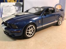 1/24 Franklin Mint Blue 2007 Shelby Mustang GT 500 Signed Autographed Shelby