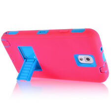 For Samsung Galaxy Note 2 3 4 Case Shockproof Hybrid Hard Rugged Cover Kickstand