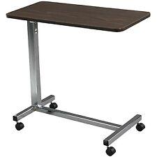 Overbed Table Food Tray Non-Tilt Top Bed Hospital Adjustable Rolling Laptop Desk