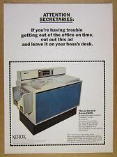 1966 Xerox 2400 Copier Copy Machine ATTENTION SECRETARIES vintage print Ad
