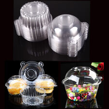 50× Clear Plastic Single Cupcake Cake Case Muffin Pod Dome Holder Box Containers
