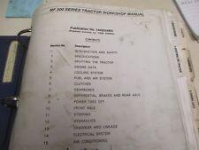 Massey Ferguson MF300 Series Tractors Workshop Service Manual
