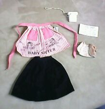 Vintage Mattel Barbie Doll babysitter APRON & skirt, telephone , baby shirt
