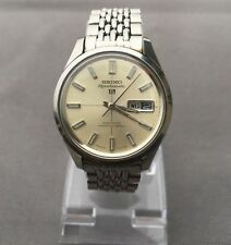 Vintage Seiko Sportsmatic 5 Diashock 21J Day Date Mens Watch 6619-8110