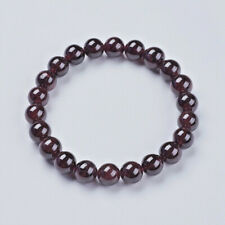 Natural Garnet 8mm Bead Stretch Bracelet Chakra Healing UK