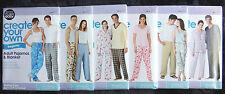 Simplicity It's Sew Easy Sewing Patterns Adult Misses Ladies Men Pajamas Pjs New