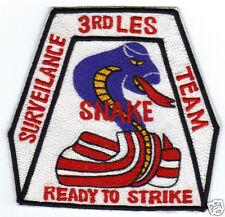 "3RD LES PATCH, SURVEILANCE TEAM. ""SNAKE--READY TO STRIKE""                     V"