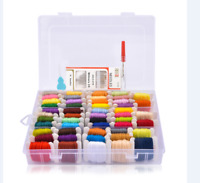 50pc Plastic Bobbins Embroidery Floss Threads Storage Cross Stitch Thread Holder