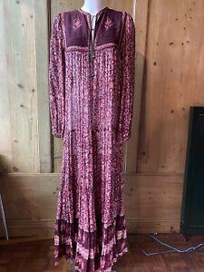 PHOOL 70s Indian Cotton Smock Afghan Gauge Dress VTG