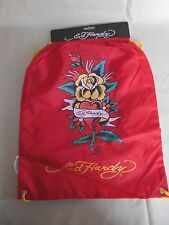 Ed Hardy Heart Drew Drawstring Red's Backpack Bag