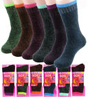 Lot 1-12 Pairs Womens Winter Warm Thermal Heated Thick Soft Sox Socks Size 9-11